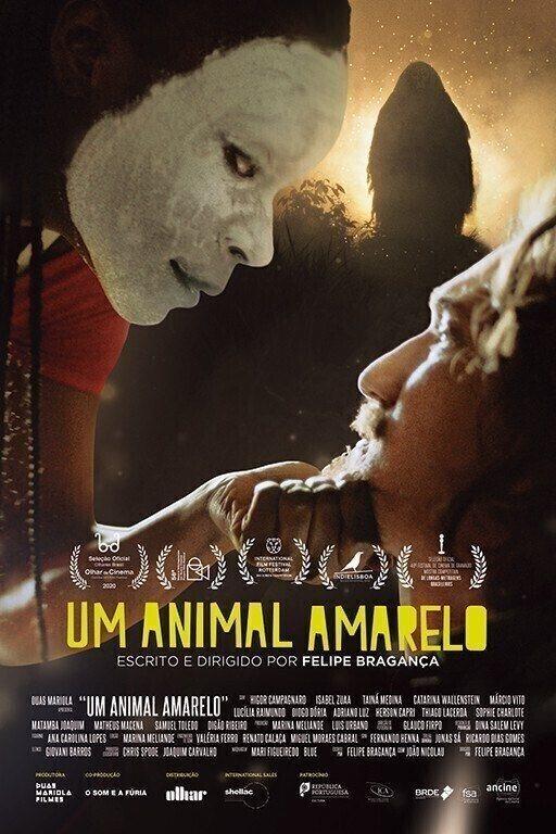 poster de UM ANIMAL AMARELO